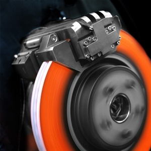 Brake disc with High Friction Coatings from Alphatek